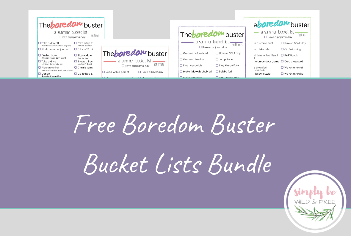 Free Summer Bucket Lists Printable - a Fun Summer Boredom Buster for kids
