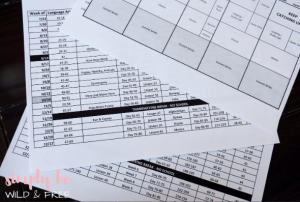 Prep Your Homeschool Year by Creating Simple Homeschool Schedule and Printable Pacing Guides