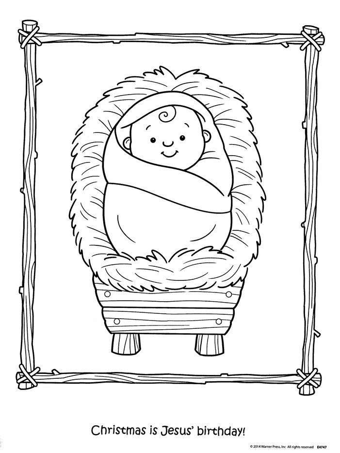 Christmas Baby Jesus Coloring Page