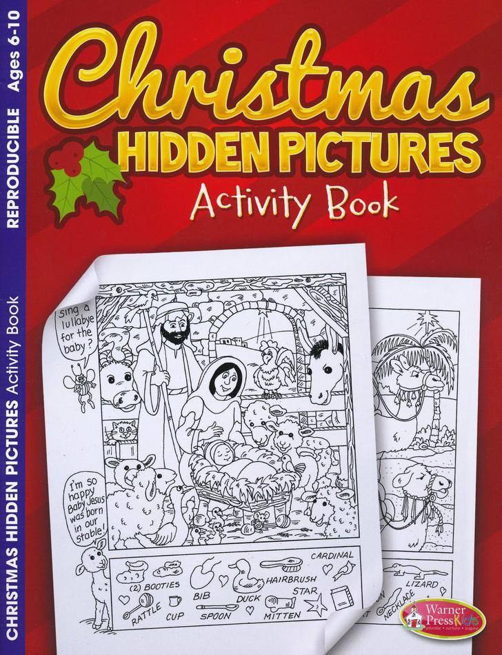 Christmas Hidden Pictures Activity Book for Kids
