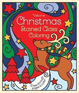 Stained Glass Christmas Coloring Book for Kids