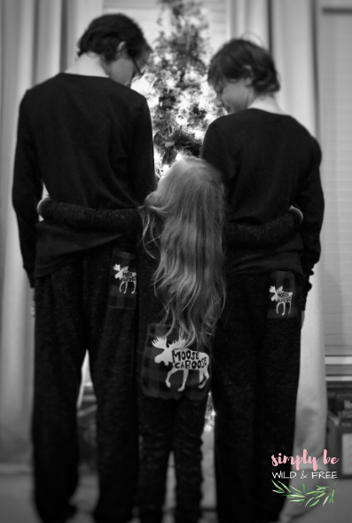 Matching Christmas Pajamas are a Favored Holiday Tradition for Families