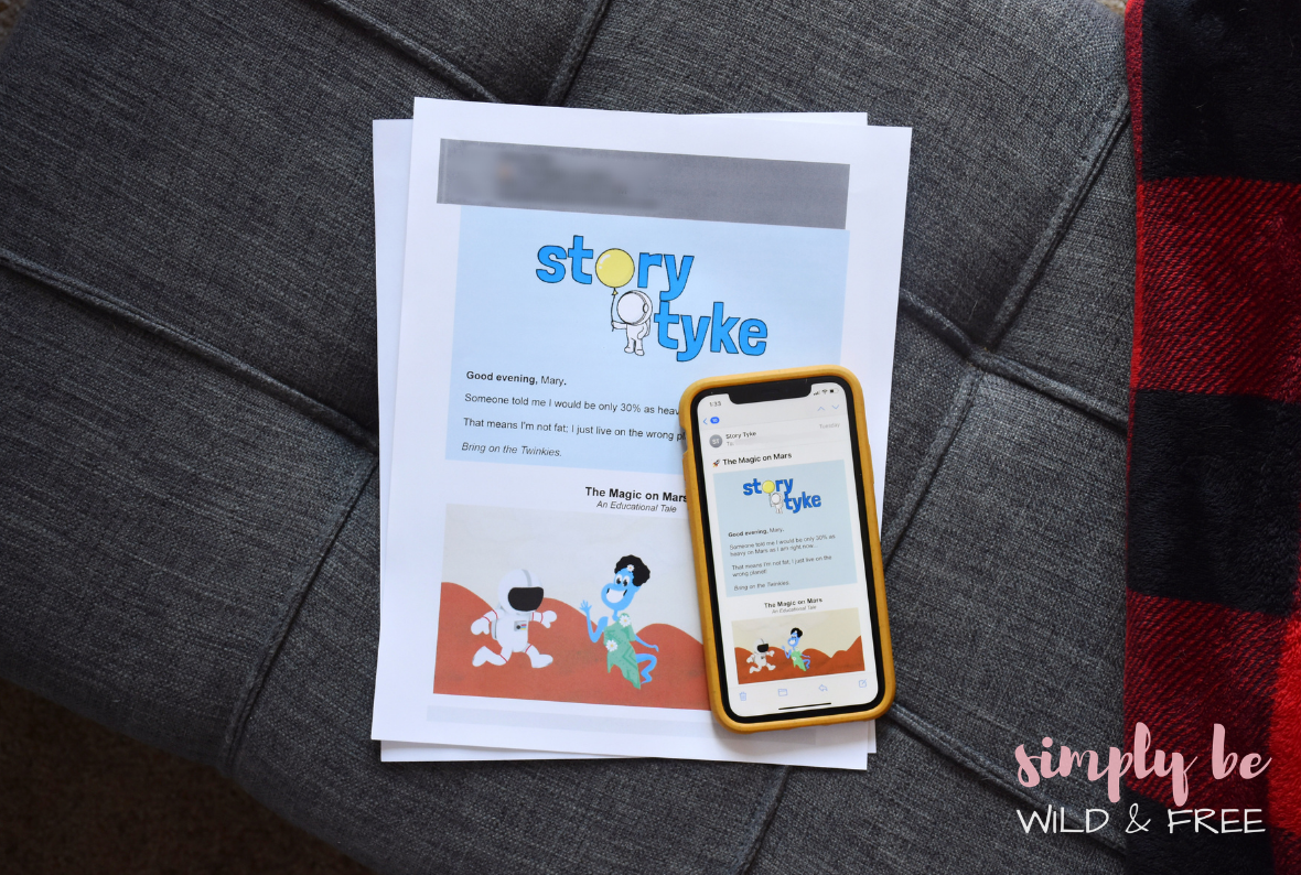 Reading Children's Bedtime Stories on Paper or Phone