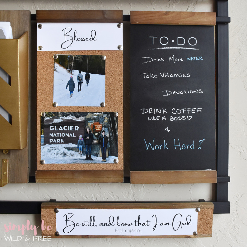 Wall Organizer Complete with Cork Boards & To Do Lists